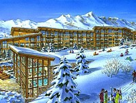 New village under construction in Les Arcs