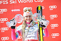 Lindsey Vonn wins the Super G in Meribel